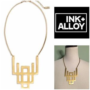 Ink + Alloy Nordstrom Gold Geometric Necklace